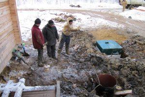 Монтаж оборудования для автономной канализации