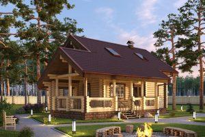 Проект дома из бревна