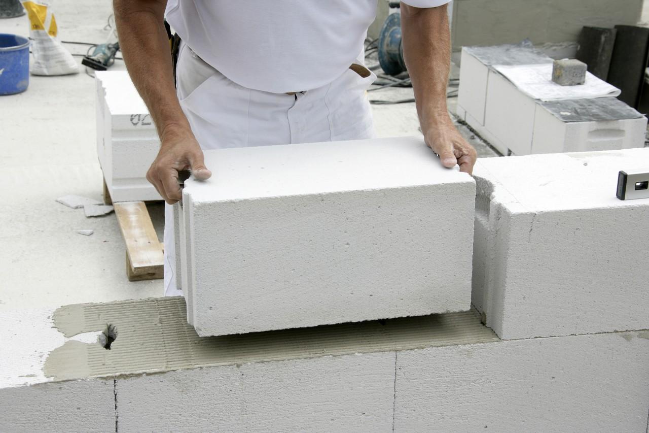 кладка газобетонных блоков на цементный раствор