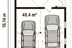 Планировка гаража на 2 автомобиля