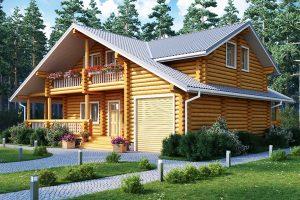 Дом из ОЦБ с гаражом