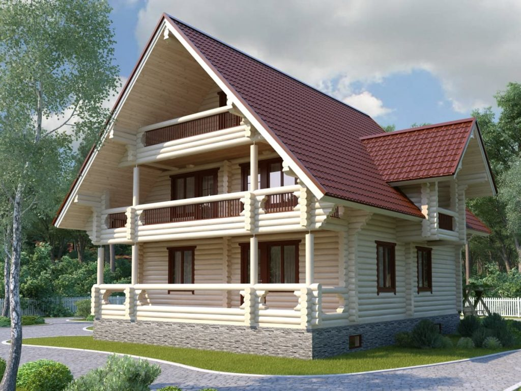 Проект дома из ОЦБ