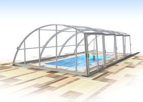 Павильон для бассейна из полипропилена