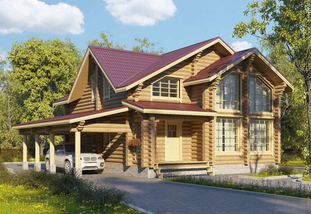 Дом из оцилиндровки 240 м2