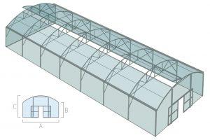 Балочная туннельная теплица
