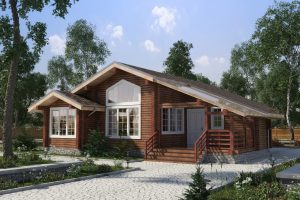 Проект 1-этажного дома из проф. бруса