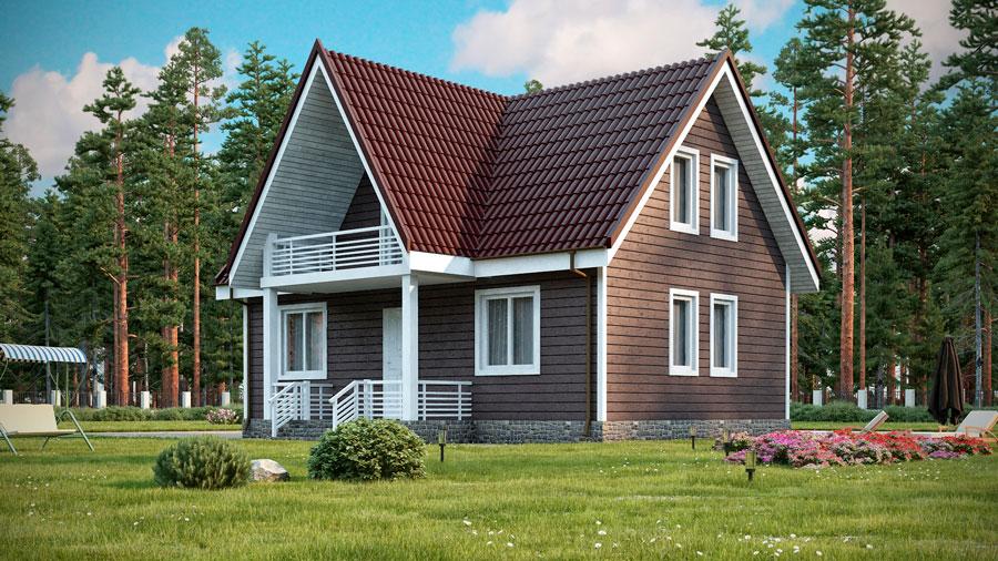 Проект каркасного дома ДК-132