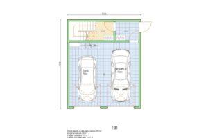 План каркасного гаража