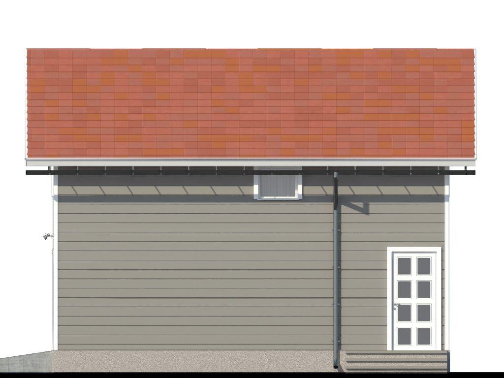 Проект каркасного гаража с мансардой