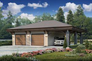 Проект гаража из пеноблока
