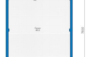 План гаража ГК-050 из пеноблока