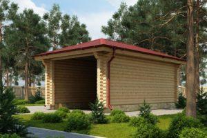 Проект гаража из ОЦБ