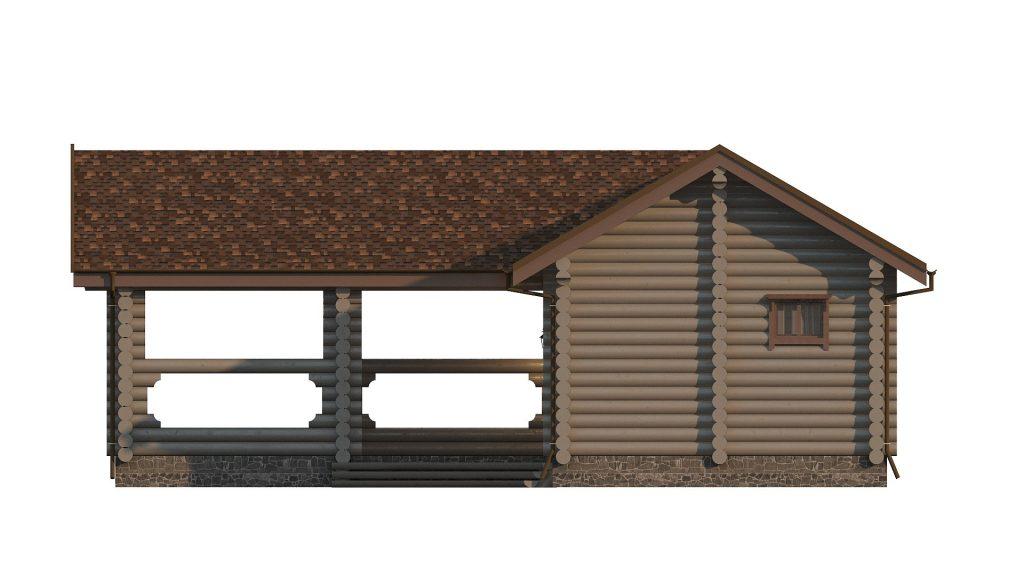 Фасад бревенчатой бани
