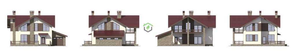 Визуализация фасадов проекта 57-95