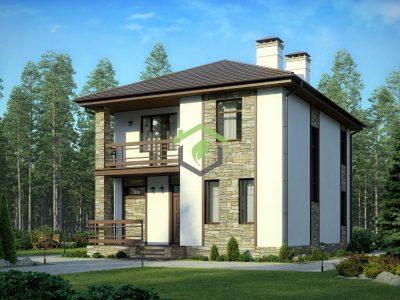 Проект дома 57-07D из газобетона