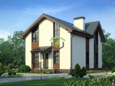 Проект 57-13А | Дом из газобетонных блоков