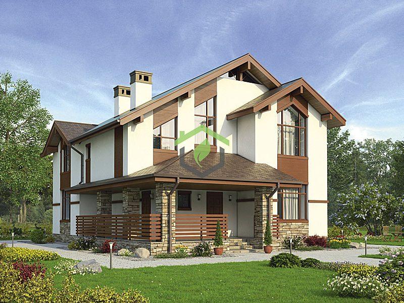 Проект дома в классическом стиле ДГ-57-42