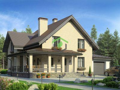 Проект дома из газобетонных блоков 59-62А