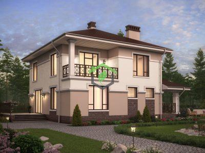 Визуализация частного дома 57-50 из газобетона