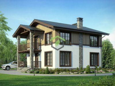Проект частного дома из газобетона 57-91А